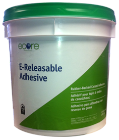 E-Releasable Adhesive is an Ecore flooring adhesive, offering permanent and releasable bonds for rubber-back carpet tile.