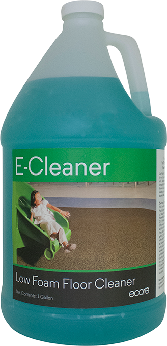 E-cleaner is a low foam floor cleaner for Ecore recycled rubber flooring.