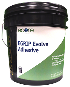 E-Grip Evolve is a flooring adhesive offered by Ecore, specifically designed for LVT Tile and Plank installation.