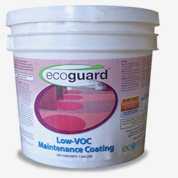 ECOguard is a water-based maintenance coating that helps to preserve flooring by protecting from dirt and scuffs.